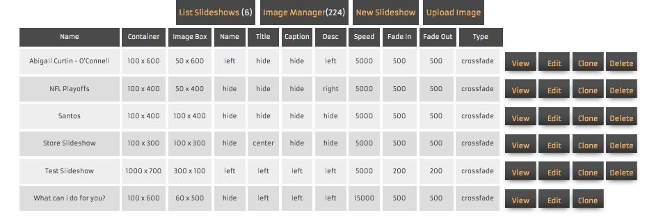choose slide show to edit