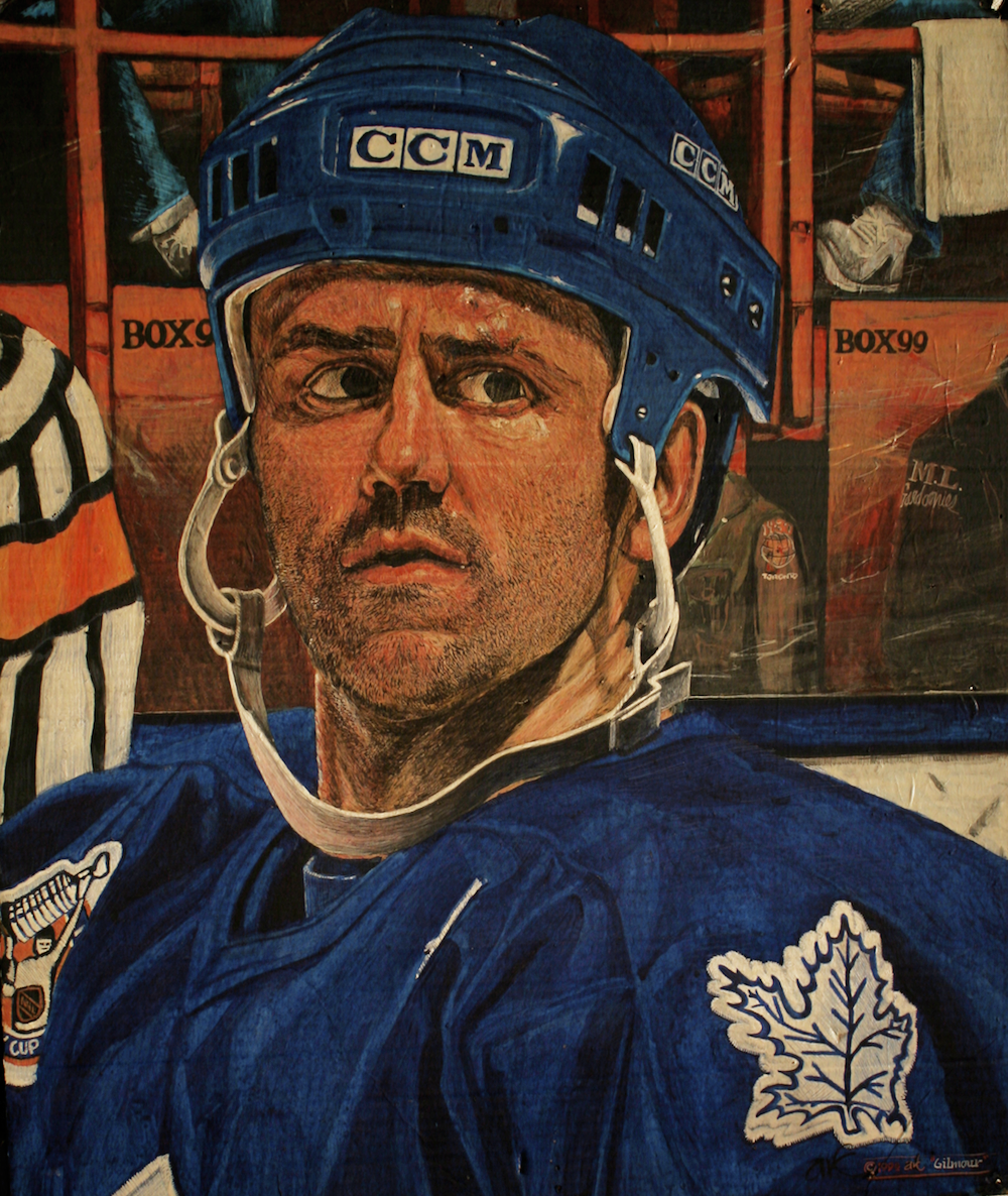 Box 99 -Doug Gilmour - Killer Captain - original painting using acrylic  by freelance cork artist, web site designer and developer